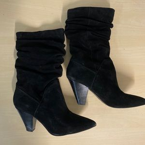 Slouch suede boots